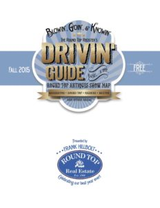 Round Top Register Drivin' Guide Antiques Show Map