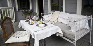 provide places to sit and eat on porch