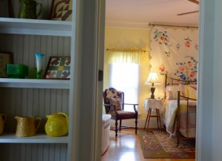 Lucky Penny Ranch Round Top inviting bedroom.