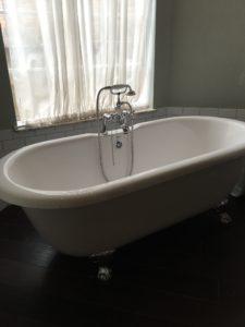 tipping and bath tub
